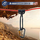 Outdoor Safety Prusik Climbing Ropes Rappelling Cord Rescue + Locking Carabiner