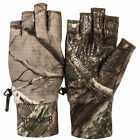 Huntworth Men's Half Finger Hunting Gloves - Hidd'n Camo Pattern - Choose Size