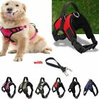 Adjustable Dog Pet Vest Harness Leash Durable Safety Walking+Pull Leash S/M/L/XL