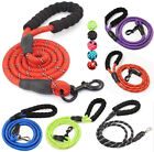 Dog Lead Leash Strong Nylon Rope Strap Reflective Leash Padded Soft Handle 5ft