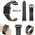 Replacement Genuine Leather Wristwatch Band For Apple Watch Iwatch 38 42mm Strap