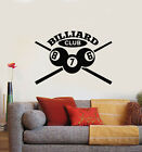 Vinyl Wall Decal Letter Billiards Room Club Cue Balls Leisure Stickers (g1454) $69.99 USD on eBay