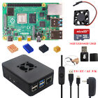 NEW Raspberry Pi 4B 2G/4G RAM DIY Kit ABS Case  5V 3A Power Optional SD Card
