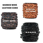 Xsotica  Barbwire Leather Cord-1 Yard Barbed Wire Leather Cords