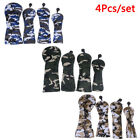 Golf Wood Head Covers for Driver Fairway Hybrid Camouflage Cover Set 4Pcs/!x