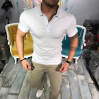 Mens Designer Pique Polo Shirts Stretch Summer Casual Golf Top T-Shirts Tee New