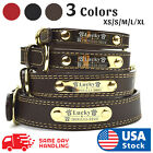 Kyпить PU Personalized Dog Collars Name ID Collar with Name plate XS-XL Engraved  на еВаy.соm