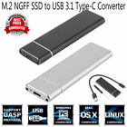 M.2 NGFF SSD 6Gbps to USB 3.1 Type-C Converter Adapter Enclosure Case Box