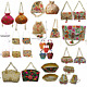10pc Indian Ethnic Embroidered Women Clutch and Potli Purse Evening HandBag gift photo