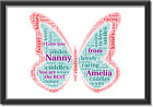 Nanny+Nanna+Mummy+Personalised+Picture+Print+Christmas+Birthday+Butterfly+Gift