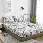 1 Pc Marble Bed Dust Cover Mattress Protective Case Fitted Sheet Covers Single D