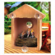 See Through Window Mirrored Bird House, Two-Way Mirror Film, All-Weather Suction photo