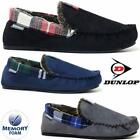 MENS MOCCASINS SLIPPERS LOAFERS FAUX SUEDE SHEEPSKIN FUR LINED MEMORY FOAM SHOES