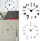 3D DIY Large Frameless Wall Clock Number Sticker Modern Home Decal Decor Fashion