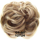 Bun Hair Piece Hair Extensions Wavy Curly Messy Scrunchy Scrunchies Women Up-do