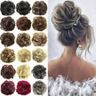 bun hair piece hair extensions wavy curly messy scrunchy scrunchies women up do