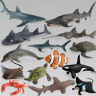 Ocean Sealife Animals Whale Turtle Shark Model Kids Educational Gift Toy ti