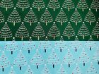 Blue Emerald Green Xmas Trees Fabric Christmas Cotton Fabric 60