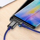 USAMS LED 90° elbow Type-C intelligent off Data line Cable For Huawei Samsung