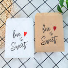 25pcs Love Is Sweet Kraft Paper Bags Party Wedding Favor Treat Pouch Supplies