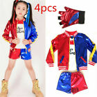 Kids Girls Cosplay Costume Suicide Squad Harley Quinn Fancy Dress Costume Outfit