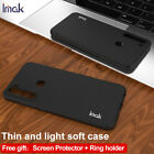 IMAK Frosted TPU Gel Ring Holder Case Cover For Xiaomi Redmi Note 8 / Note 8 Pro