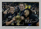 NEW SEALAND ALL BLACKS WORLD CUP  2015 McCAW NONU CARTER SIGNED A4 PHOTO PRINT