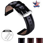18 20 22mm Quick Release Genuine Leather Watch Band Strap For Timex Wrist Band image