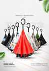 C-Handle Revers Umbrella Double Layer Umbrella Windproof Folding Upside Down