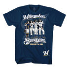 Milwaukee Brewers KISS Dressed Men's Navy Blue Shirt on Ebay