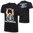 "Official WWE Authentic Stone Cold Steve Austin ""Rattlesnake"" Retro T-Shirt Black image"