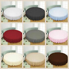 "1 PC Round Bed Skirt 1000 Thread Count Egyptian Cotton 84"" Diameter Solid Colors image"