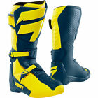 OUTLET New Shift Racing White Label Motocross Boots Yellow Navy Botas Enduro