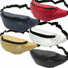 Quilted Fanny Pack Women Girl Belt Fashion Waist Bag Silver Gold Red Blue Black