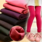 KIDS GIRLS WINTER WARM THICK FLEECE THERMAL LEGGINGS STRETCHY TROUSERS PANTS