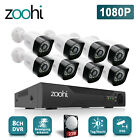 1080P 8CH CCTV NVR Security Camera System Night 2MP Home Video Set 2TB HDD IP66