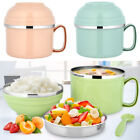 Insulated Bento Kids Adult Lunch Box Food Noodle Container Thermal Heat Portable