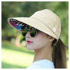 Women Sports Sun Visor Protection Cap Tennis Golf Holiday Adjustable Headband HD