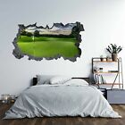 Golf Course Theme 3D Hole in The Wall Effect C Self Adhesive Wall Decal Art S...