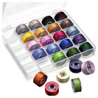25/50X Bobbins & Sewing Thread & Case For Brother Singer Babylock Janome Kenmore