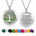 1 Pc Stainless Steel Tree of Life Design Aroma Aromatherapy Essential Necklace