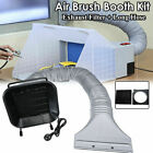 Exhaust Filter Extractor LED Long Hose For Hobby Airbrush Paint Spray Booth Kit