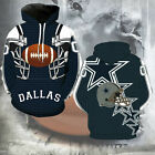 US Men's Dallas Cowboys Sport Hoodie Sweatshirt Jumper Jacket Hooded Coat Tops $16.99 USD on eBay