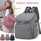 Diaper Bags PU Leather Mummy Maternity Nappy Backpack Multi Function Organizer