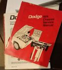1974 Dodge Factory  Chassis Service Manual Challenger Dart Charger Monaco $19.99 USD on eBay