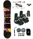 Sionyx Flowers Snowboard +Bindings Package women's Leash+Stomp+Shades+ Roxy dcal