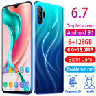 Dualsim Full Screen Unlocked Mobile Cell Smart Phone A10 Pro Android 9.1 6+128gb