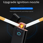 electronic windproof usb cigarette lighter cigarette accessories gift for men