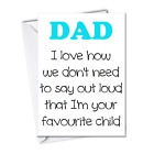 Funny Rude Fathers Day Cards Humour Cheeky from dog Funny cards for DAD father