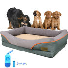 Big Dog Bed Soft Washable Fleece Fur Cushion Raised Couch Warm Luxury Pet Basket